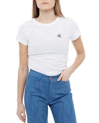 Calvin Klein Jeans Ck Embroidery Slim T-shirt Bright White