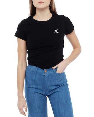 Calvin Klein Jeans Ck Embroidery Slim T-shirt Ck Black