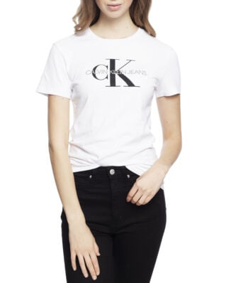 Calvin Klein Jeans Core Monogram Logo Regular Fit Tee Bright White