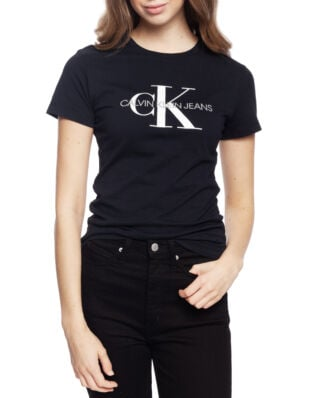 Calvin Klein Jeans Core Monogram Logo Regular Fit Tee CK Black