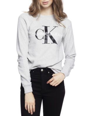 Calvin Klein Jeans Core Monogram Logo Sweatshirt Light Grey Heather