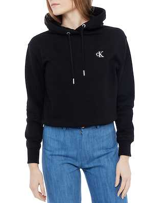 Calvin Klein Jeans Embroidery Regular Hoodie Ck Black