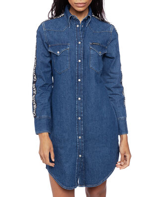 Calvin Klein Jeans Foundation Western Dress Side Stripe Logo
