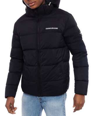 Calvin Klein Jeans Hooded Down Puffer Jacket Black
