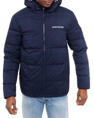 Calvin Klein Jeans Hooded Down Puffer Jacket Night Sky