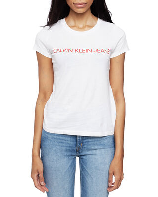 Calvin Klein Jeans Institutional Logo Bright White/Barbados Cherry