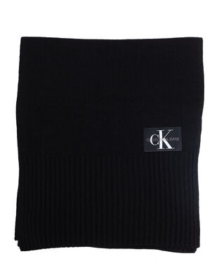 Calvin Klein Jeans J Basic Men Knitted Scarf Black Beauty