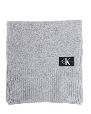 Calvin Klein Jeans J Basic Men Knitted Scarf Mid Grey Heather