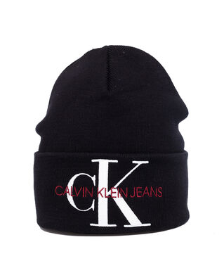Calvin Klein Jeans J Basic Women Knitted Beanie Black Beauty