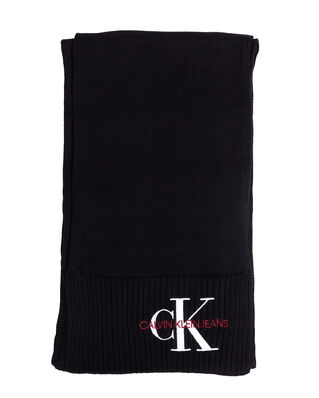 Calvin Klein Jeans J Basic Women Knitted Scarf Black Beauty