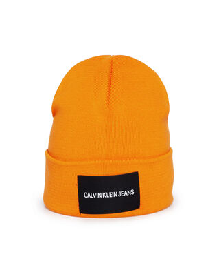 Calvin Klein Jeans J Institutional Beanie Orange Peel