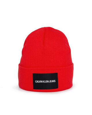 Calvin Klein Jeans J Institutional Beanie Racing Red