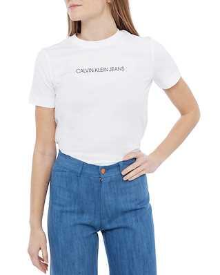 Calvin Klein Jeans Shunken Institiution Bright White