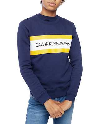 Calvin Klein  Junior Box Logo Sweatshirt Peacoat