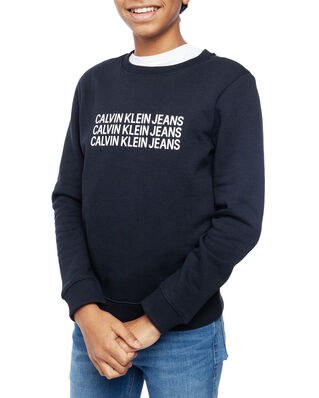 Calvin Klein  Junior Triple Logo Sweatshirt Black Beauty