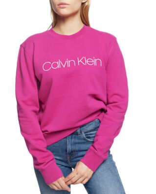 Calvin Klein  Large Embroidered Logo Sweatshirt Long Sleeve Orchid