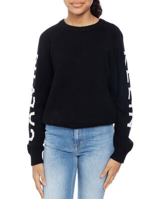 Calvin Klein  Junior Logo Raglan Sweater Black