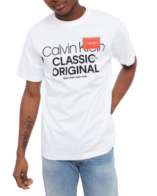 Calvin Klein  Logo Text Relaxed T-shirt Calvin White
