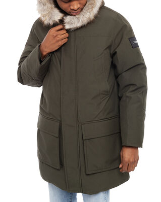 Calvin Klein  Long Length Premium Down Jacket Dark Olive