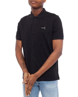Calvin Klein  Pique Contrast Logo Polo Calvin Black