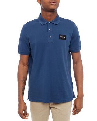 Calvin Klein  Pique Contrast Logo Polo Denim Blue