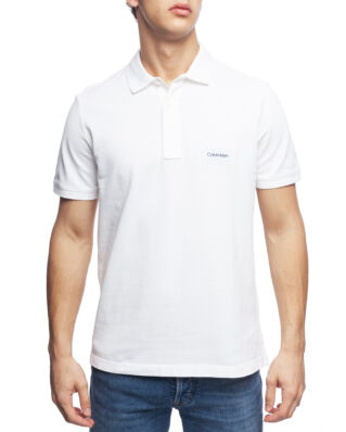 Calvin Klein  Pique Logo Badge Polo Perfect White