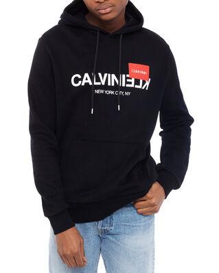 Calvin Klein  Text Reverse Logo Hoodie Calvin Black
