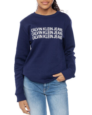 Calvin Klein  Junior Triple Logo Sweatshirt Peacoat