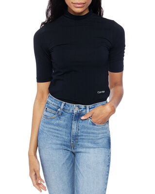 Calvin Klein  Turtle-Nk Pima Cotton Top Hs Calvin Black