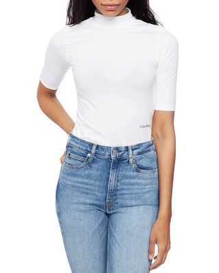 Calvin Klein  Turtle-Nk Pima Cotton Top Hs Calvin White