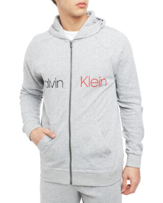 Calvin Klein Underwear Full Zip Hoodie Grey Heather