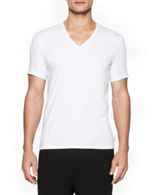 Calvin Klein Underwear Modern Cotton 2-Pack V-Neck T-shirt White
