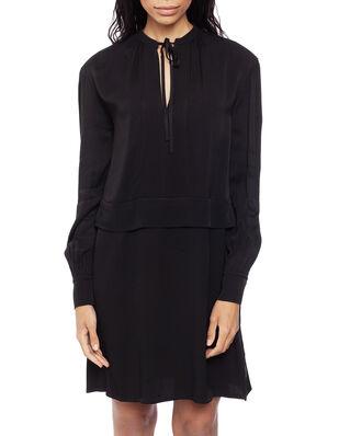 Calvin Klein  Viscose Pioneer Dress Ls Calvin Black