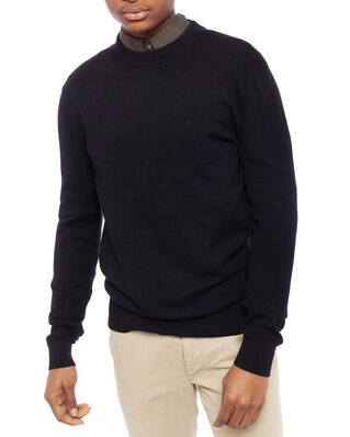 Calvin Klein  Wool Cotton Embroidery Sweater Calvin Black