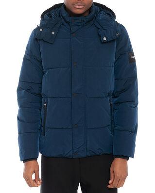 Calvin Klein  Crinkle Nylon Mid Length Jacket Calvin Navy