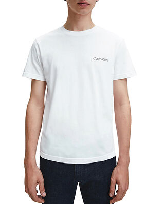 Calvin Klein  Cotton Chest Logo T-Shirt Calvin White