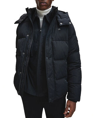 Calvin Klein  Crinkle Nylon Mid Length Jacket CK Black