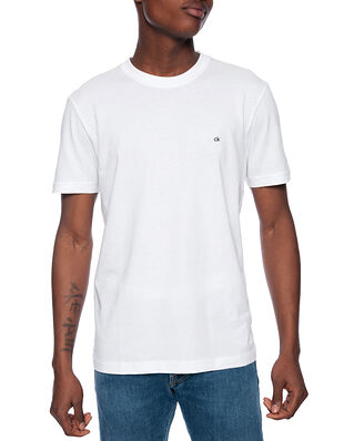 Calvin Klein  Cotton Logo Embroided Calvin White