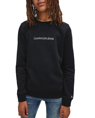 Calvin Klein Jeans Junior Embroidered Logo Sweatshirt CK Black
