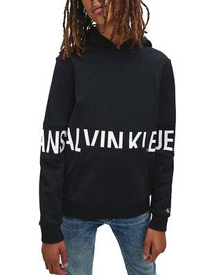 Calvin Klein Jeans Junior Stretch Logo Hoodie Ck Black