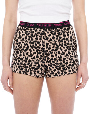 Calvin Klein Underwear Sleep Shorts Sketched Leopard Print/ Honey Almond