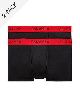 Calvin Klein Underwear 2-Pack Pro Stretch Trunk Black W Impact Wb