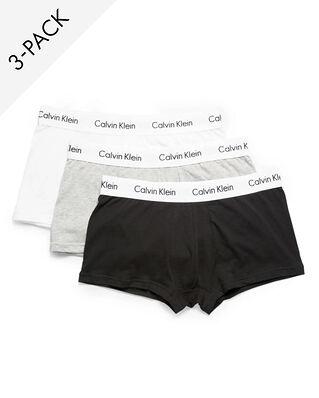 Calvin Klein Underwear Cotton Stretch 3-Pack Low Rise Trunk Black/White/Grey