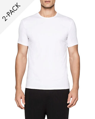 Calvin Klein Underwear Modern Cotton 2-Pack Crew Neck T-shirt White