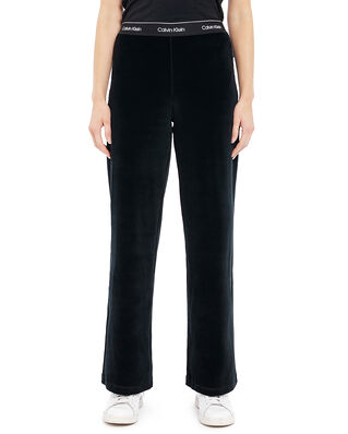 Calvin Klein  Velour Logo Wide Leg Pant CK Black