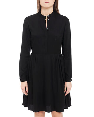 Calvin Klein  Viscose Twill Ls Button Dress Ck Black