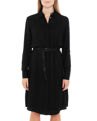 Calvin Klein  Viscose Twill Ls Shirt Dress Ck Black