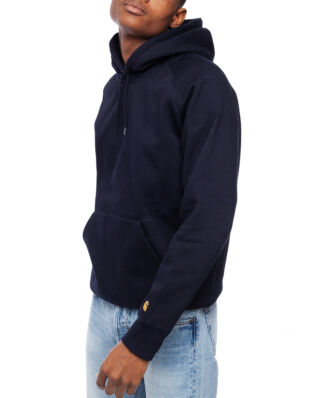 Carhartt WIP Hooded Chase Sweat Dark Navy/Gold