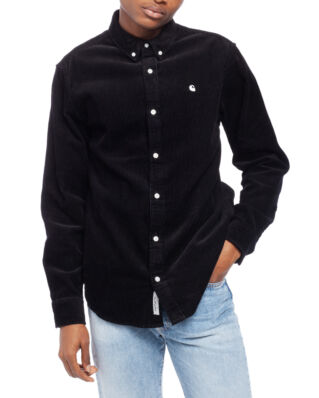 Carhartt WIP L/S Madison Cord Shirt Black/White