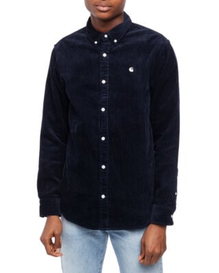 Carhartt WIP L/S Madison Cord Shirt Dark Navy / White-Import FW19